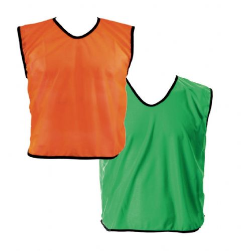 Reversible Mesh Training Bib (XS) - Orange/Green